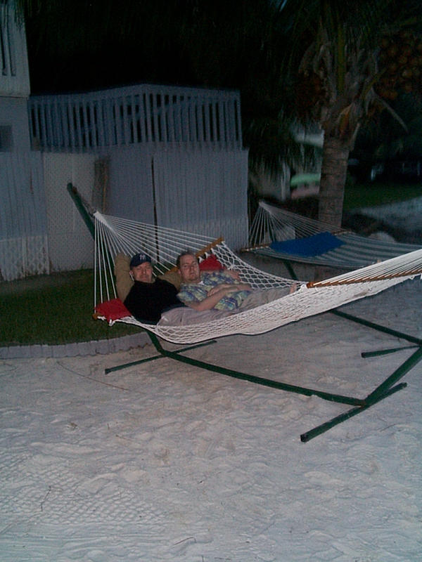 Chris and Michael in the hammock