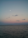 Sunset, with Moon