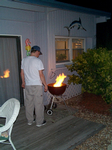 Michael Starting to Barbecue